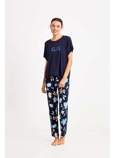 Catherines 1822 Pijama Takım Lacivert
